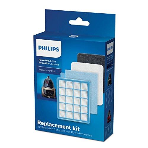 Philips komplettes Filterset für beutellose Staubsauger PowerPro Active und Compact FC8058/01 (nicht geeignet für FC933X)