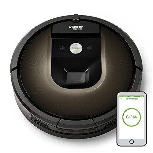 iRobot Roomba 980 beutellos schwarz Roboter-Staubsauger beutelloser Staubsauger Robotern (, Schwarz, Schokolade, Teppich, Kamera, 2 H, 35 cm