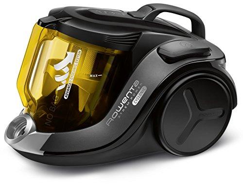 Rowenta RO6984EA X-Trem Power Cyclonic, beutelloser Boden-Staubsauger (sehr leise, Tierhaar, hohe Saugleistung ohne Beutel, Maximale Leistung: 750 Watt) schwarz/gelb