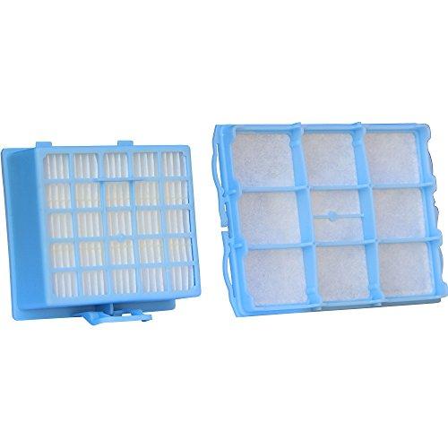 Staubsauger-Filter-Set mit 1 HEPA-Filter und 1 Motorschutzfilter geeignet für Bosch BSG6 / Siemens VS06G Serie