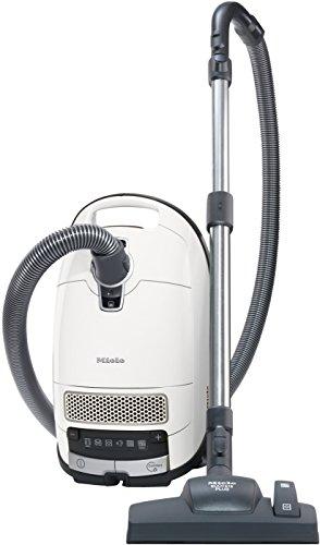 Miele Complete C3 Silence EcoLine Bodenstaubsauger (mit Beutel, 4,5 Liter Staubbeutelvolumen, 550 Watt, 12m Aktionsradius, extra leise 64 dB, inkl. Gummireifen für guten Rollcomfort) weiß