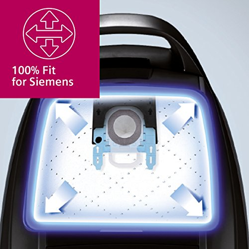 Siemens PowerProtect Staubsaugerbeutel VZ16GALL (16 Stück), mit Verschluss, effizienter Motorschutz, 50{a3fd6c8e442c7f9c4a581667474deae32fdd5edc79cf7e1d7f9415a828c445a8} längere Nutzungsdauer, alle Baureihen außer VS08, VS01