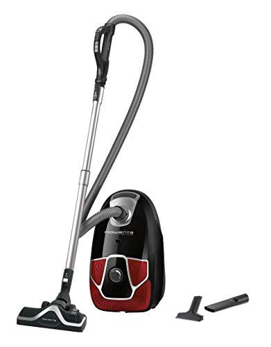 Rowenta RO6823EA X-Trem Power Classic+ Beutel-Staubsauger (Maximale Leistung: 550 Watt, Staubbeutelkapazität: 4,5 Liter) schwarz/rot