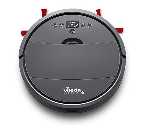 Vileda VR 201 PetPro Saugroboter (optimiert für Tierhaare, 90 Minuten Laufzeit), Kunststoff, dunkelgrau, 32 x 8 cm