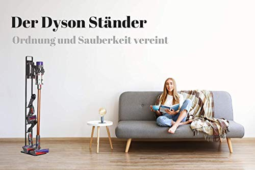 Zubehör Halterung/Ständer für die Zubehör Teile von Dyson V7 V8 V10 V11Hand Staubsauger/Organizer und Dockingstation - Best in Design - sehr schneller und einfacher Aufbau